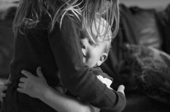 Cousins Hugging