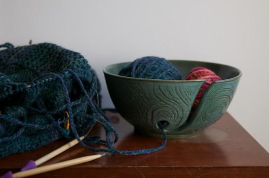 Knitting Bowl Bad Light