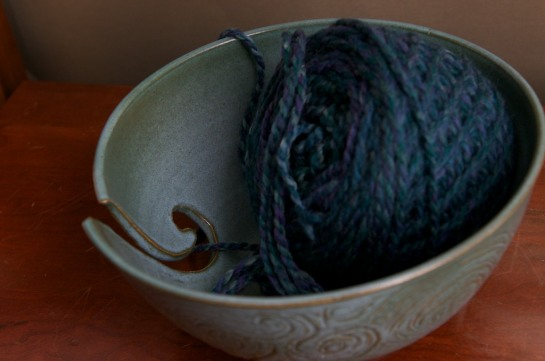 Knitting Bowl from Above